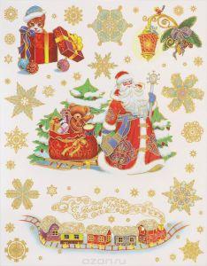 Оконное украшение Дед Мороз