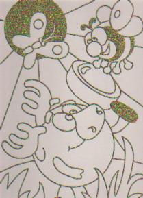 Раскраска Чудесный шмель: Рисуем со смешариками