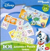 Домино + Puzzle 101 Dalmatians. Цифры