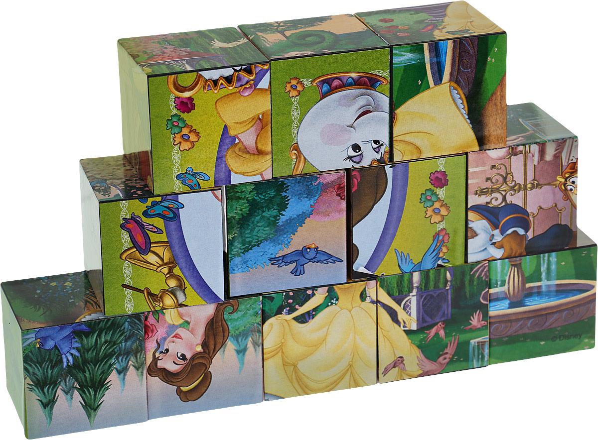 Кубики 12шт Step Beauty and the Beast Чудовище и Красавица