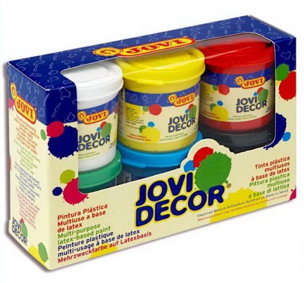 Акриловые краски 6цв Jovi Decor + кисть