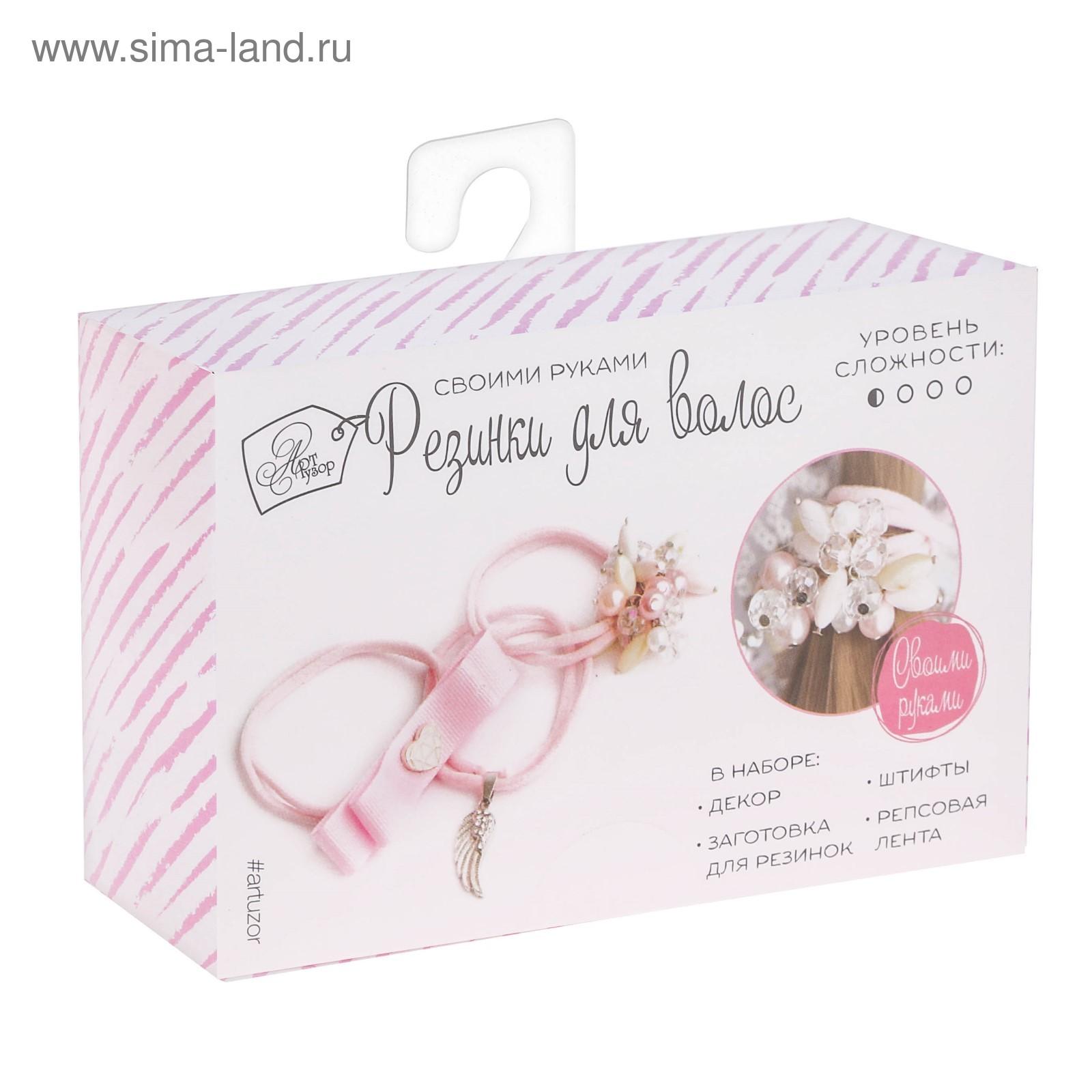 Резинки для волос своими руками Ангел нежно-розовый 12*18*4см