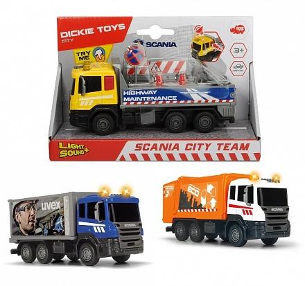Машина Городская техника Scania кабина die-cast 17см