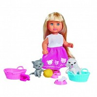 Кукла Еви 12см с набором Домашние питомцы
