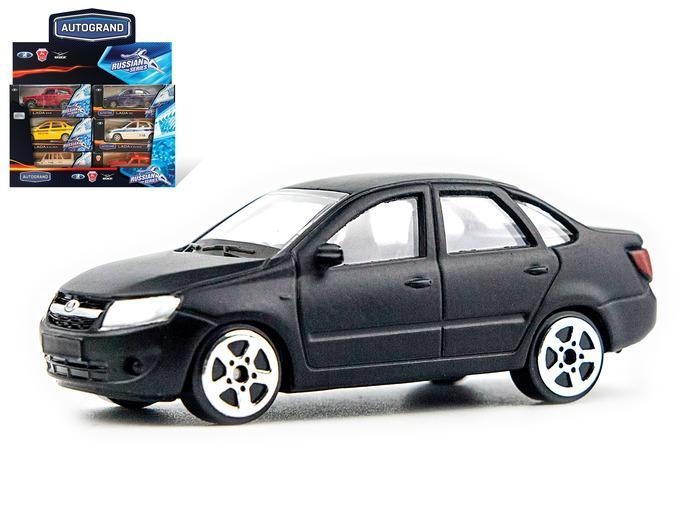 Машина Lada Granta матовая черная 1:60