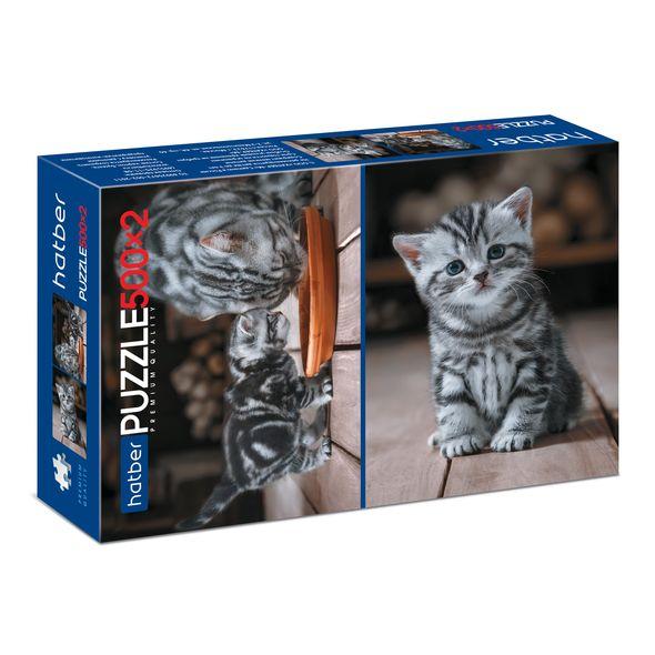 Пазл 2 в 1 500+500 Котиков много не бывает