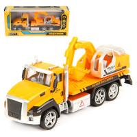 Машина Спецтехника Scoop truck метал. кабина, инерц. 1:36