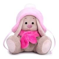 Мягконабивная BUDI BASA Зайка Ми в шапке с помпоном и шарфе