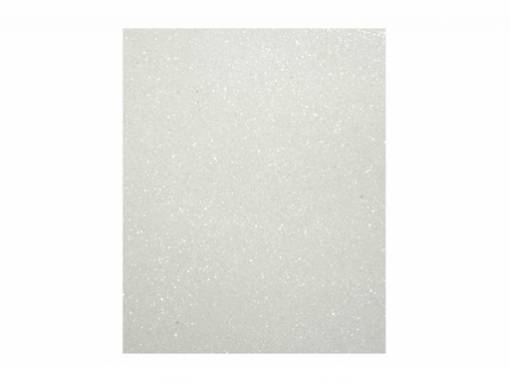 Фоамиран 40*60см 2мм глиттер белый
