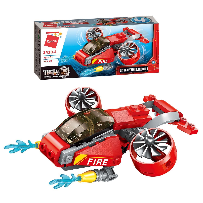 Конструктор Qman Мега робот: Пожарные 57-98 дет., в ассорт.
