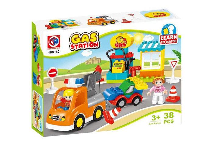 Конструктор Kids home toys Автомобильная заправка 38 дет. пласт