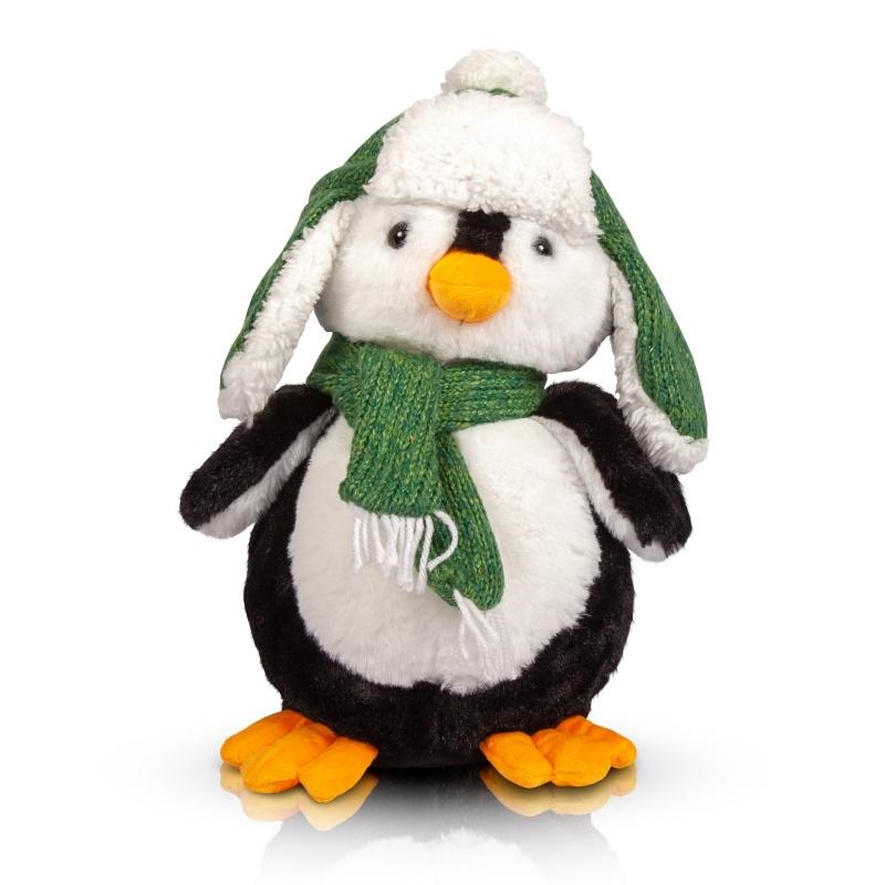 Мягконабивная Пингвинчик в шапке-ушанке 22см