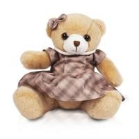 Мягконабивная Медведица в платье 16см в ассорт.