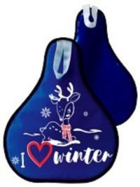 Ледянка 52*42см синяя (с принтом) мягкая
