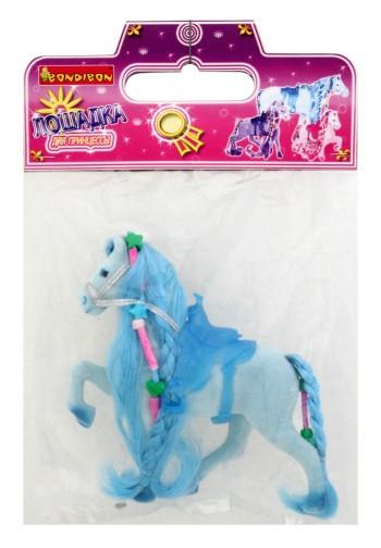 Лошадь флок. с косой 7,5см