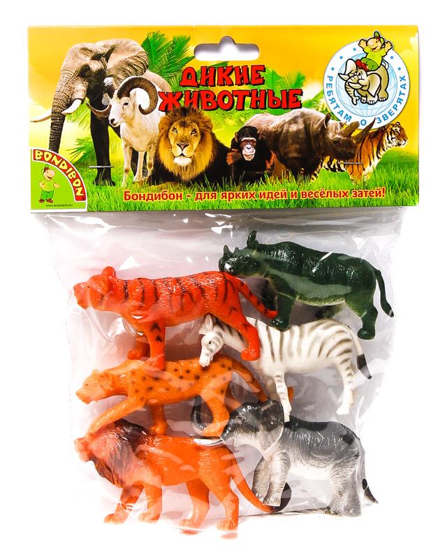 Набор Ребятам о Зверятах Дикие животные 3-4 вида 6шт пласт