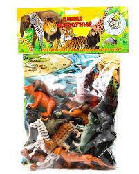 Набор Ребятам о Зверятах Дикие животные 4 20 шт.+ игровое поле, пласт