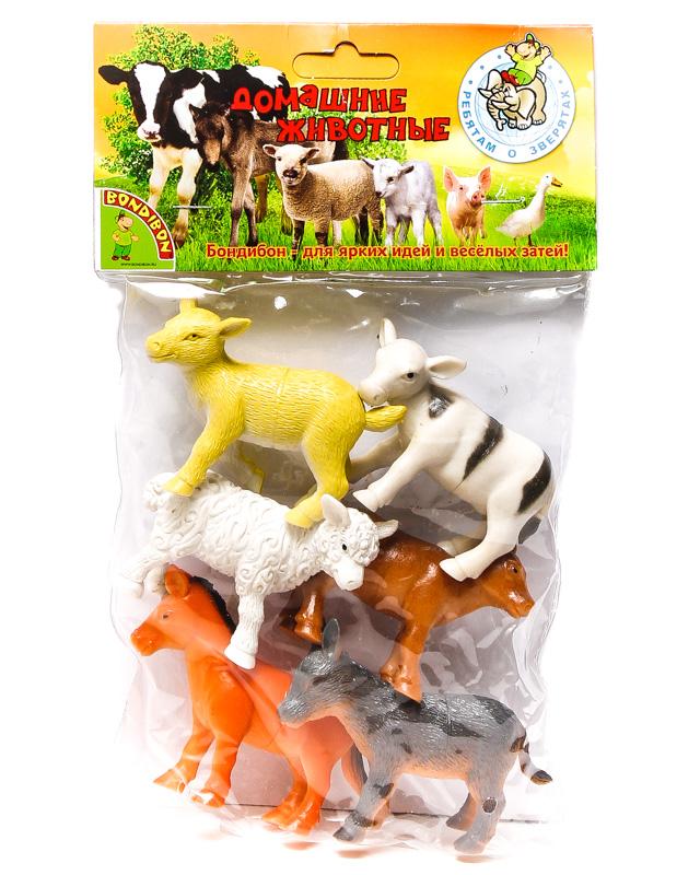 Набор Ребятам о Зверятах Детёныши домашних животных, 3-3,5 6 шт. пласт