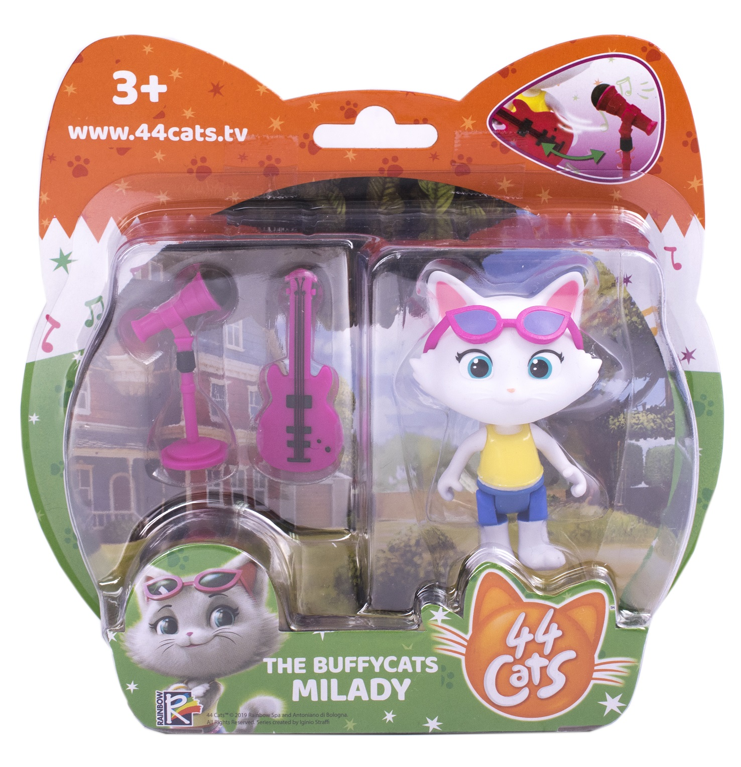 Фигурка 44 котенка Миледи 7,5см с аксесс пласт
