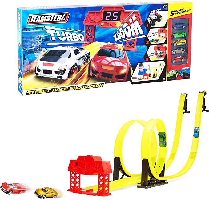 Набор Большая трасса Street Race S/Down с таймером и 5 машинками