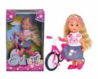 Кукла Еви 12см на трехколесном велосипеде