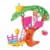 Кукла Еви 12см Домик на дереве пласт + аксесс