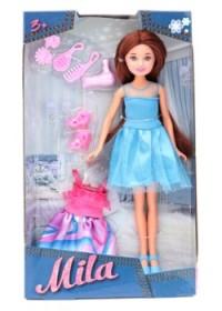 Кукла Мила 23 м со сменным платьем и аксесс