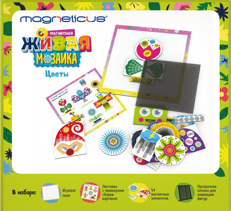 Игра Мозаика магнитная Magneticus Цветы