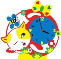 Творч Набор из фоамирана Часы Котик