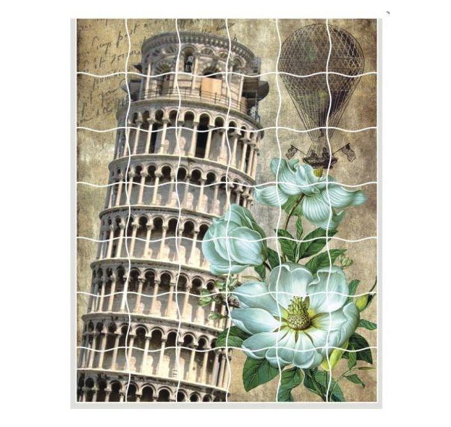 Творч Мозаика-стикеры 16,5х21 Пизанская башня