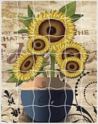 Творч Мозаика-стикеры 16,5х21 Подсолнухи