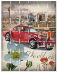 Творч Мозаика-стикеры 16,5х21 Машина