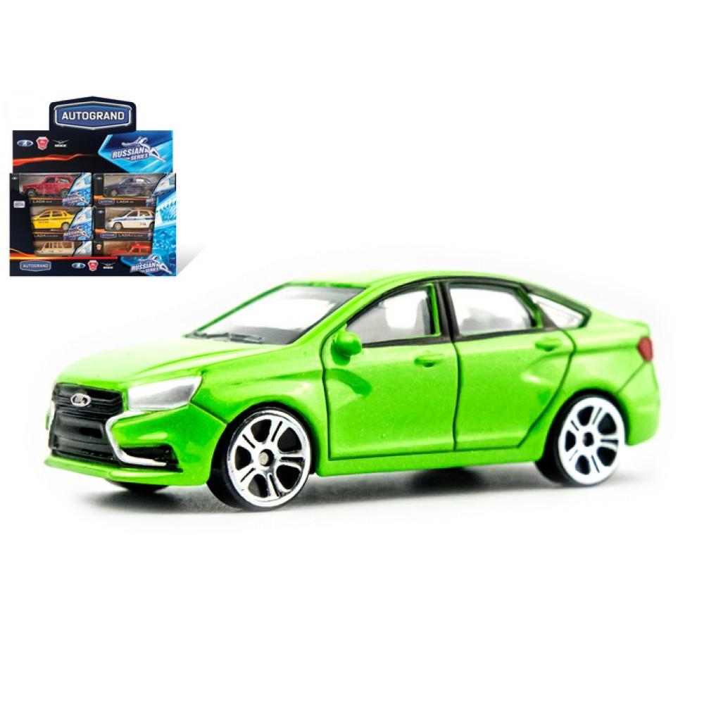 Машина Lada Vesta салатовая 1:60
