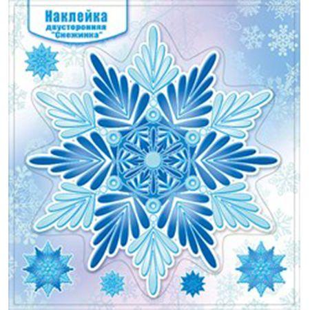 Наклейка НГ 080.867 Снежинка двусторонняя глит