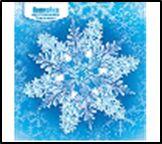 Наклейка НГ 080.860 Снежинка двусторонняя глит