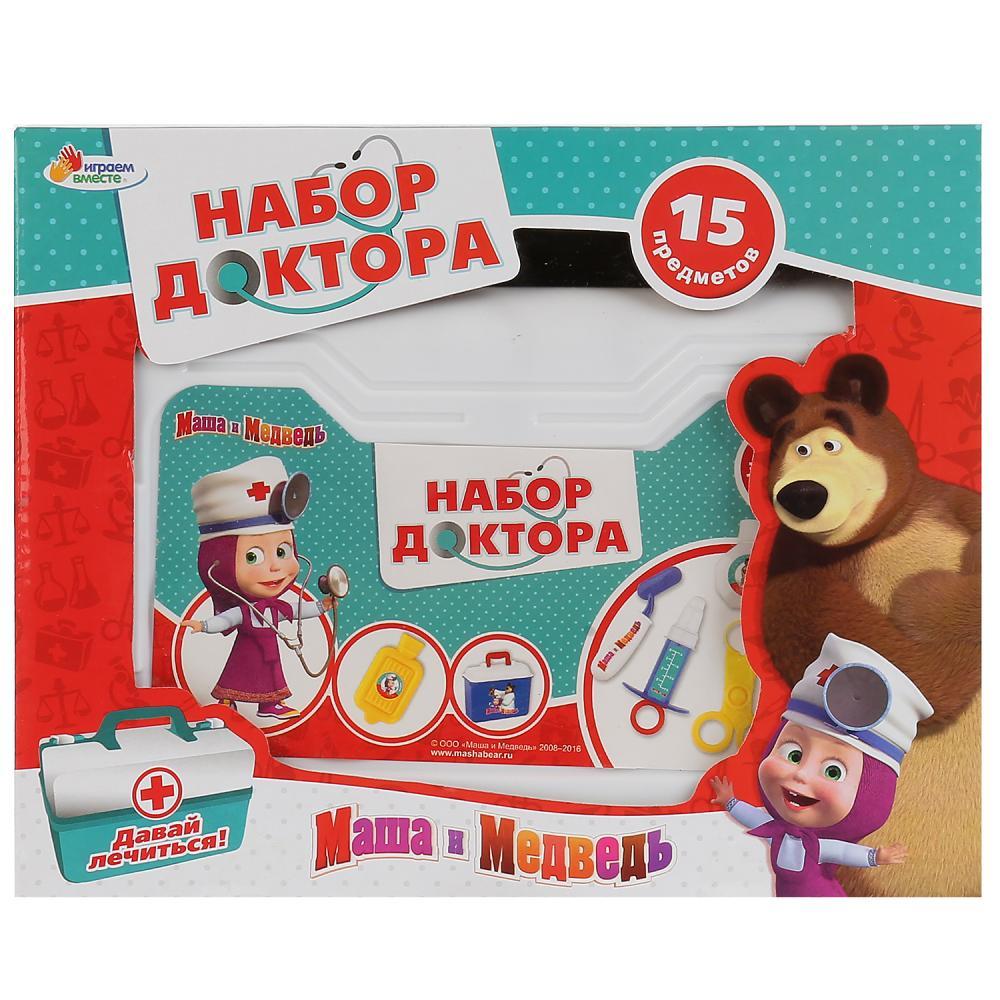 Набор Доктор Маша и Медведь 15 предм. в чемодане