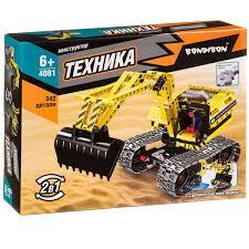 Конструктор Техника. Экскаватор Робот 2в1, 342 дет.