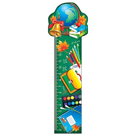 Закладка-линейка Глобус, колокольчик, книги... + табл/умнож