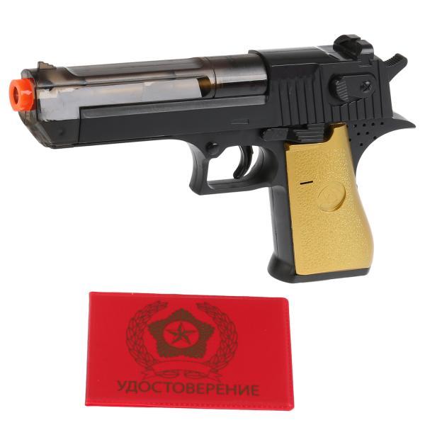 Пистолет на бат. свет+звук +удостоверение