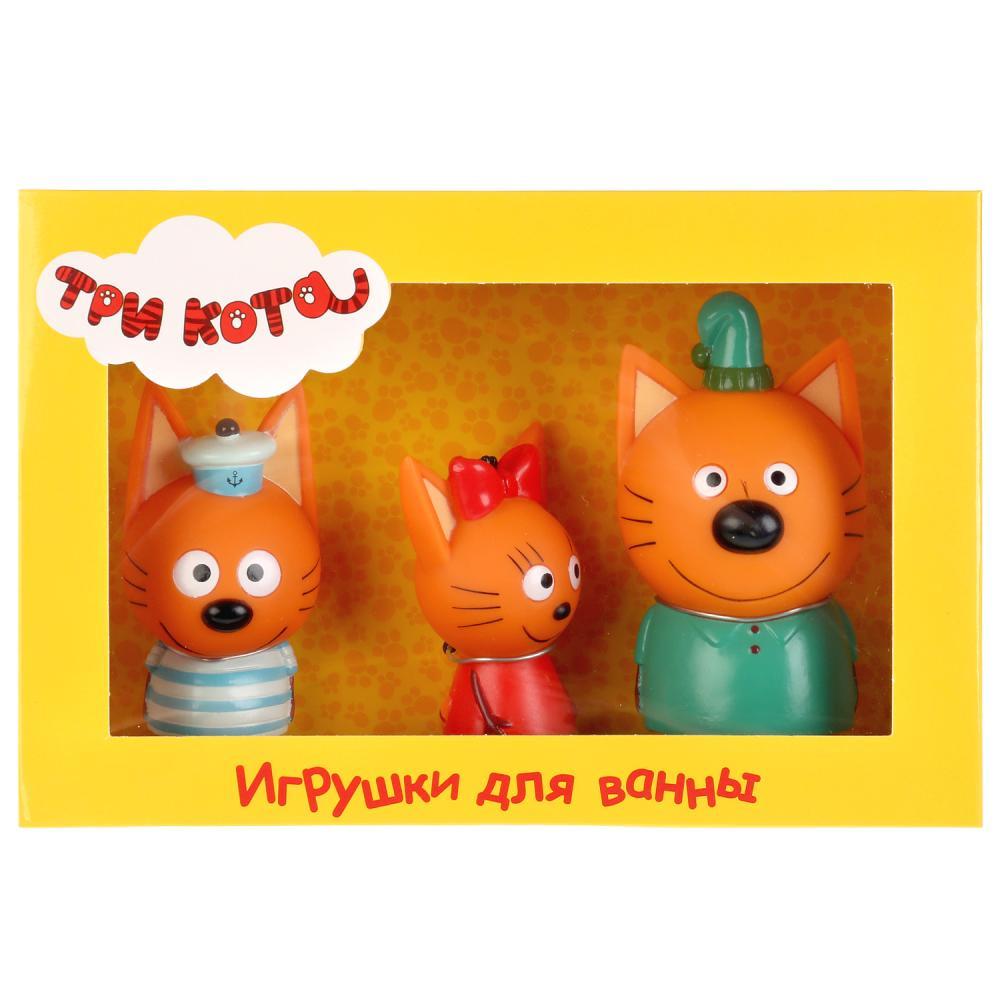 из ПВХ Набор для купания Капитошка Три кота: Компот, Коржик, Карамелька