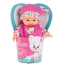 Кукла Пупс Карапуз 12см твердое тело ассорт.