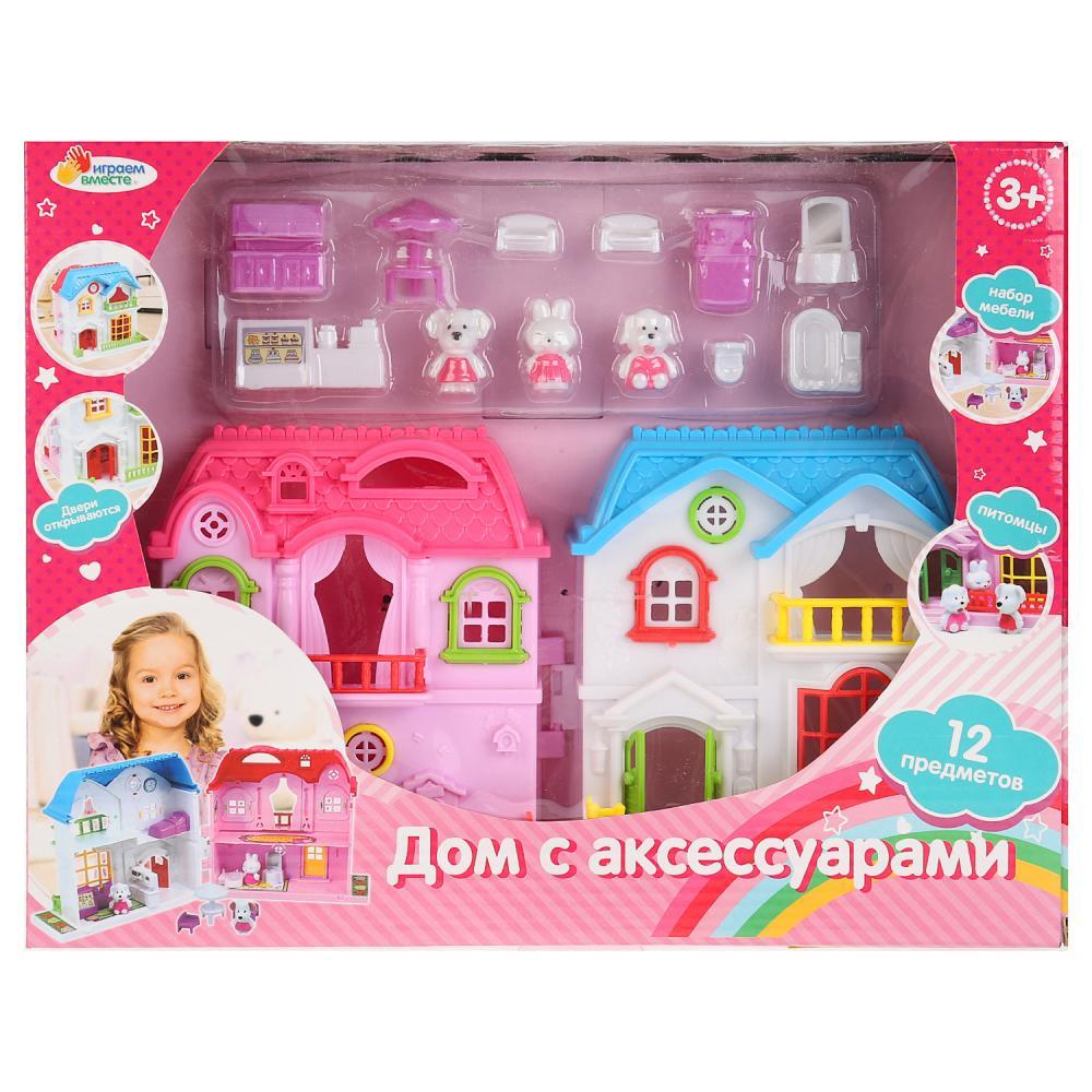 Дом для кукол с мебелью и аксесс.