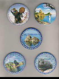 Сувенир Магнит Байкал метал закатной кругл d=5,6 фото в ассорт