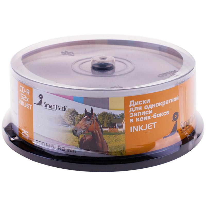 Диск CD-R SMART TRACK 80min 700MB 52x Cake box Printable