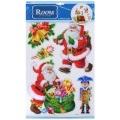 НГ Наклейки 20*30 объемные Дед Мороз (мягк)