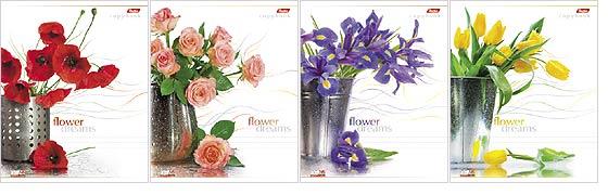 Тетрадь 96л кл спир Цветы