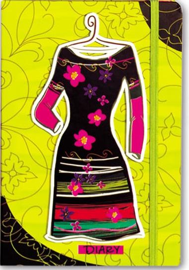Зап. книжка А6 Платье, на резинке (кармашки, карандаш)