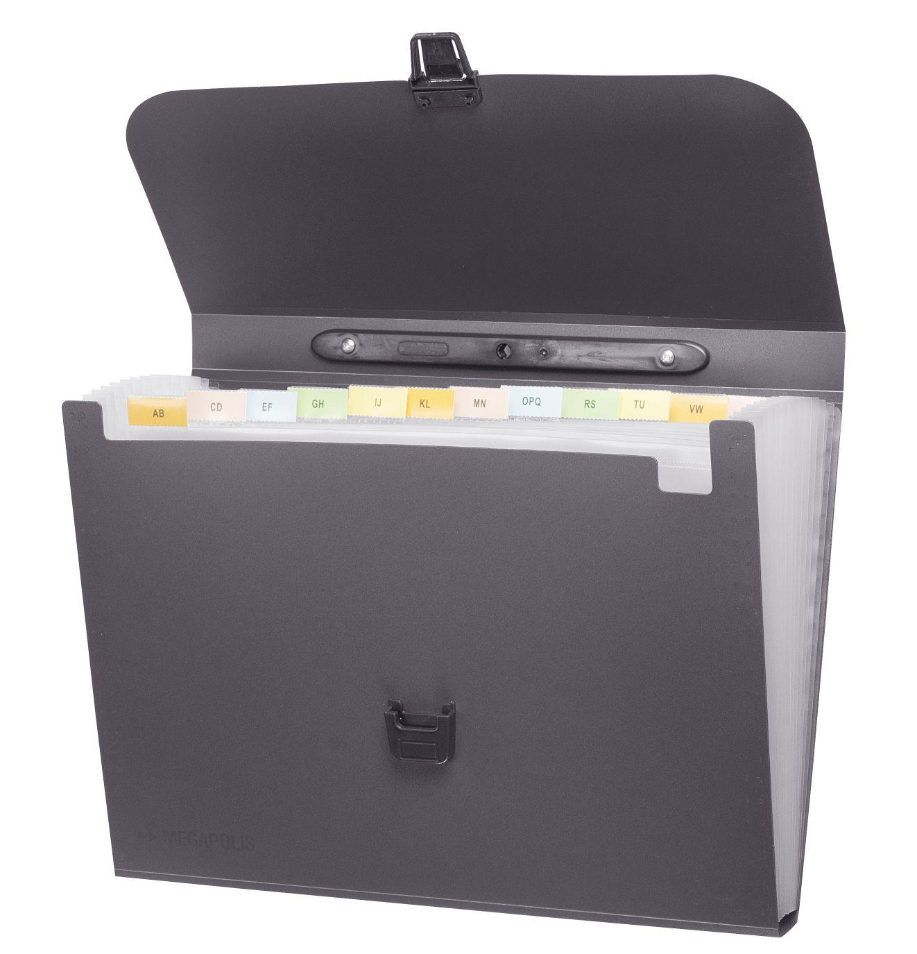 Портфель с ручкой 12отд Megapolis серый