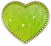 Открытка 60377-МЕ Сердце мал на липе зелен фольг