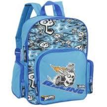 Рюкзак Boom Hot Wheels голубой, черепа 3 кармана